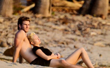 Miley Cyrus in Liam Hemsworth spet par!