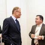 Direktor podjetja Riko Janez Škrabec in direktor Rimskih Term Valery Arakelov sta se pogovarjala kar v ruščini (foto: Barbara Reya)