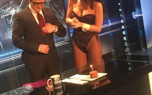 Juretu Godlerju čestitala Playboyeva zajčica Anja Jenko