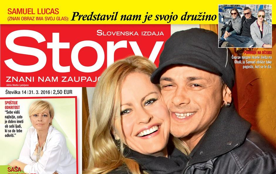 Samuel Lucas za revijo Story ganljivo in odkrito o ljubezni s Petro