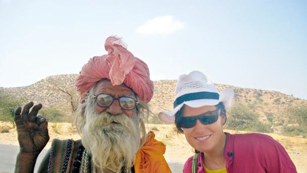 Na njeni poti  v Indijo je Leni  spoznala novo  življenje in  zanimive ljudi. (foto: Osebni arhiv)