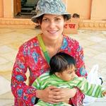 V Indiji je  Alenka nekaj  časa celo  poučevala otroke  v šoli. (foto: Osebni arhiv)