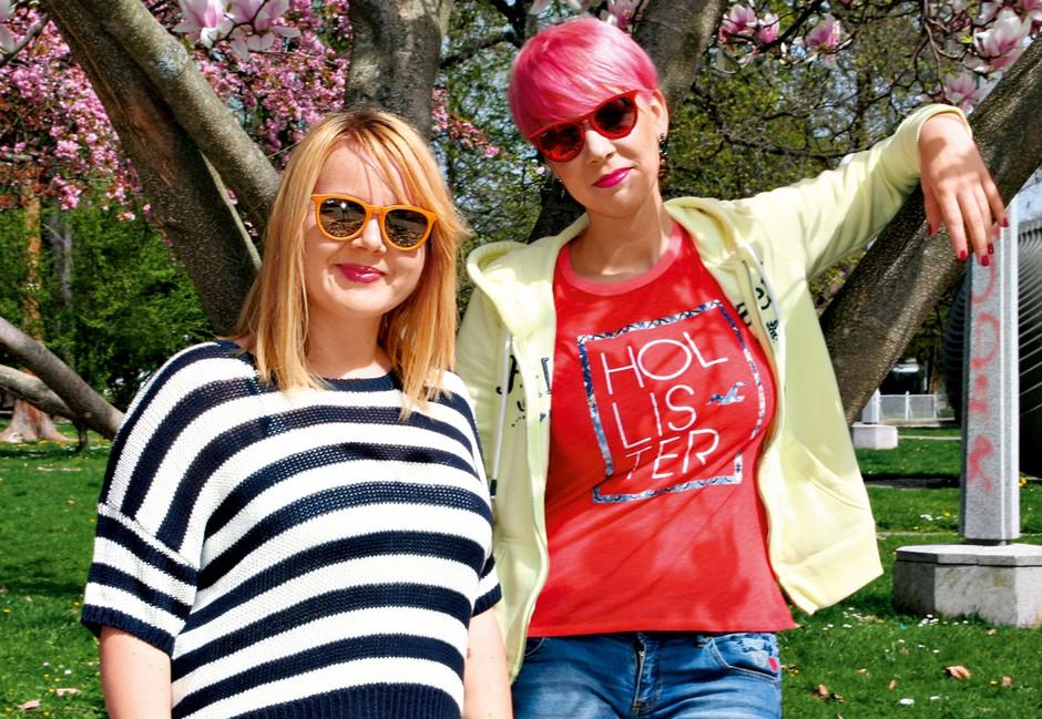 Tanja in Mateja  že četrto sezono  sodelujeta pri  snemanju oddaje  Bognedaj, da bi  crknu televizor. (foto: Planet TV, osebni arhiv, Natalija Jelušič Babič, Marko Pigac)