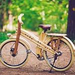 Ob nakitu, uhanih, lesenih metuljčkih in torbicah je tudi leseno kolo prav poseben izdelek, s katerim se predstavlja znamka Moi. (foto: Jernerj Borovinšek)