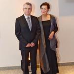 Goste sta na vhodu pozdravila predsednik Združenja Manager Aleksander Zalaznik s soprogo Heleno. (foto: Primož Predalič)
