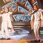 Z zmagovalcem šova Tilnom Artačem sta imela tudi skupno točko – oba sta namreč oponašala Vilija Resnika.  (foto: arhiv POP TV, Miro Majcen, Primož Predalič, osebni arhiv)