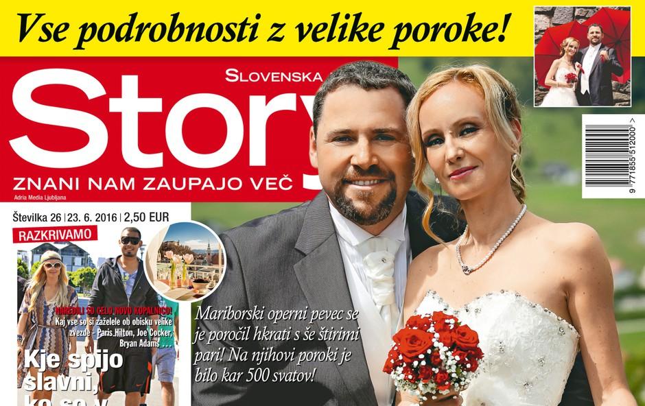 Jaki in Tina Jurgec sta se poročila hkrati še s štirimi pari, piše Story! (foto: revija Story)