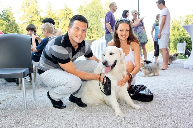 Iryna Osypenko Nemec ima psa s sončnim značajem (foto: Helena Kermelj)