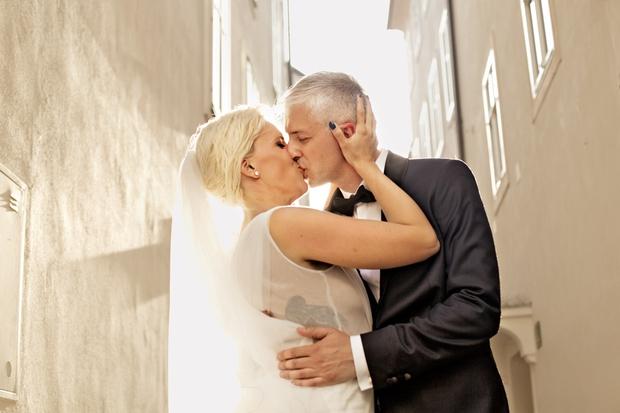 """""""Najin veliki dan je pozdravilo 34 svatov, saj sva si želela intimne poroke."""" (foto: osebni arhiv)"""