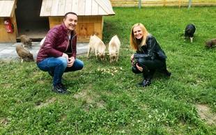 Frenk Nova in Nuša derenda bosta pasla krave