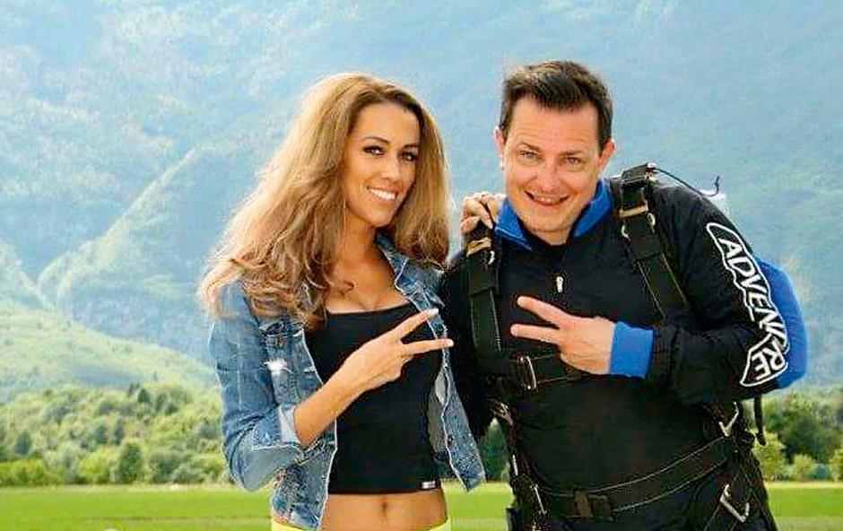 Rado Mulej in Tina Gaber skupaj preživela vikend v Bovcu (foto: osebni arhiv)