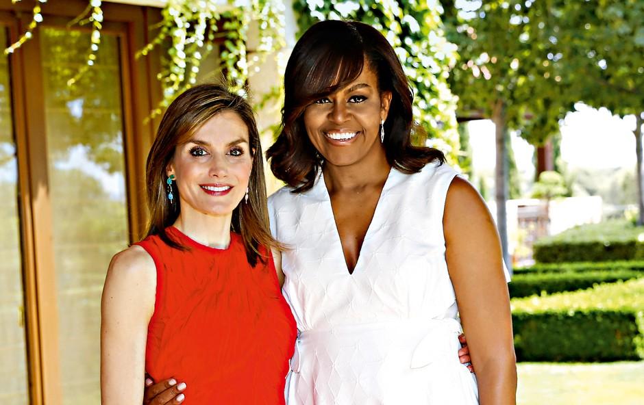 Španska kraljica gostila svojo prijateljico Michelle Obama (foto: Profimedia)