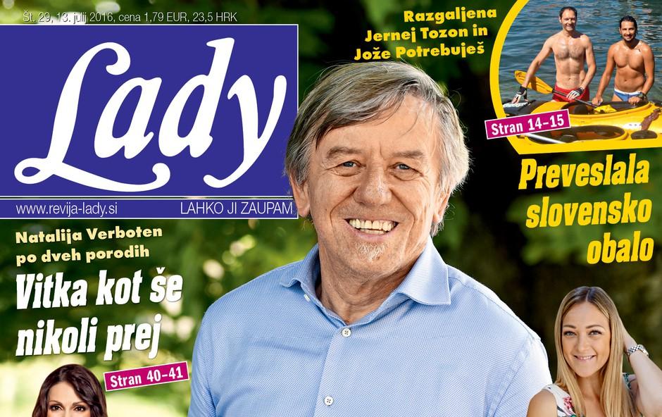 """""""Žena mi je rešila življenje,"""" je za Lady povedal Slavko Ivančič leto dni po nesreči! (foto: revija Lady)"""