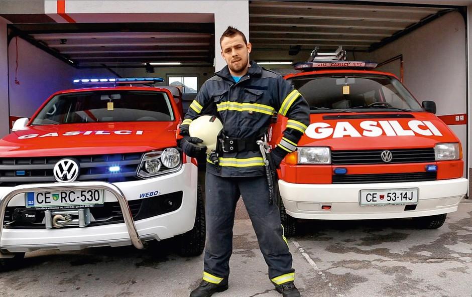 Klemen (Big Brother): Prostovoljni gasilec (foto: osebni arhiv)