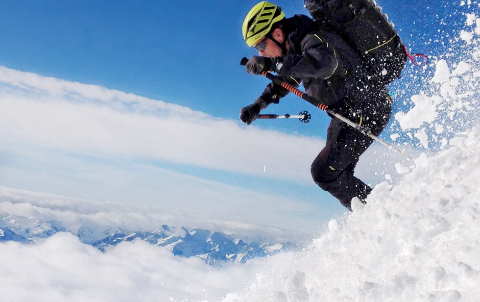 Davo Karničar: Spust z gore vseh gora (foto: Jurij Gorjanc)