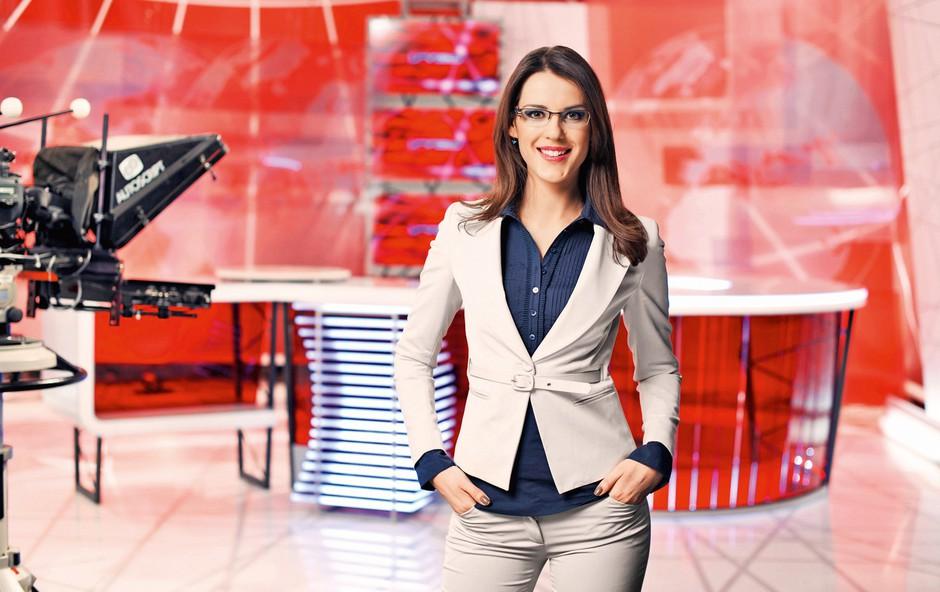 Nuša Lesar: Televizijka z laboratorijsko haljo (foto: arhiv Kanal A)