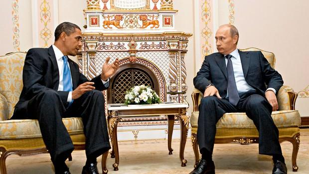 Vladimir Putin in Barack Obama: Dve ikoni, dve različni zgodbi (foto: Profimedia)