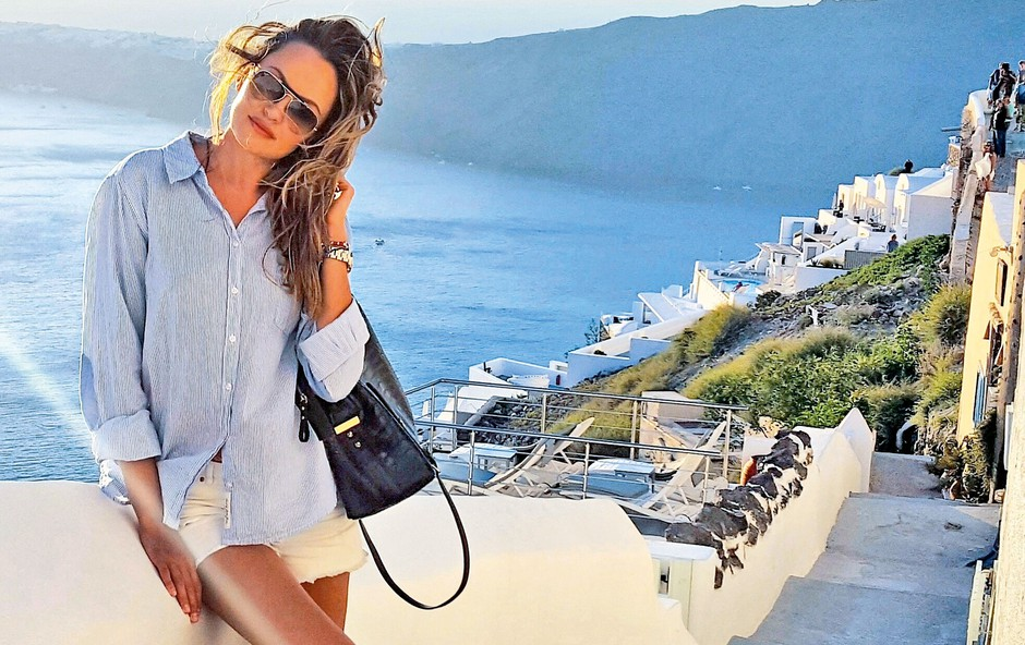 Iryna Osypenko Nemec: Romantičen oddih na sanjskem Santoriniju (foto: osebni arhiv)