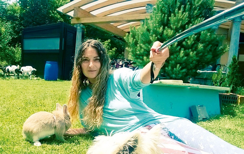 Tia Anna Paynich: Ima svoj mali živalski vrt (foto: osebni arhiv)