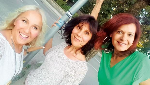 Simona Vodopivec, Alenka Godec in Damjana Golavšek: Prijateljice že 30 let (foto: osebni arhiv)