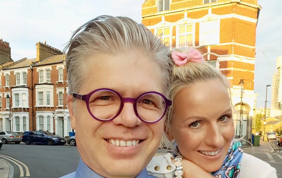 Nika Ambrožič Urbas in Matjaž Ambrožič: Njuna poletja v Londonu (foto: osebni arhiv)