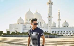 Sebastian poučuje ples v Dubaju