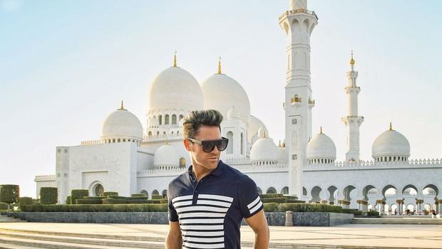Sebastian poučuje ples v Dubaju (foto: Tibor Golob)