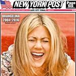 Kako dramo komentira Jennifer Aniston, njegova nekdanja 'razočarana' soproga, ki jo je prevaral z Angelino med snemanjem filma Gospod in gospa Smith, še ni znano. Takole se je New York Post 21. septembra poigral z naslovnico …  (foto: Profimedia, Shutterstock)