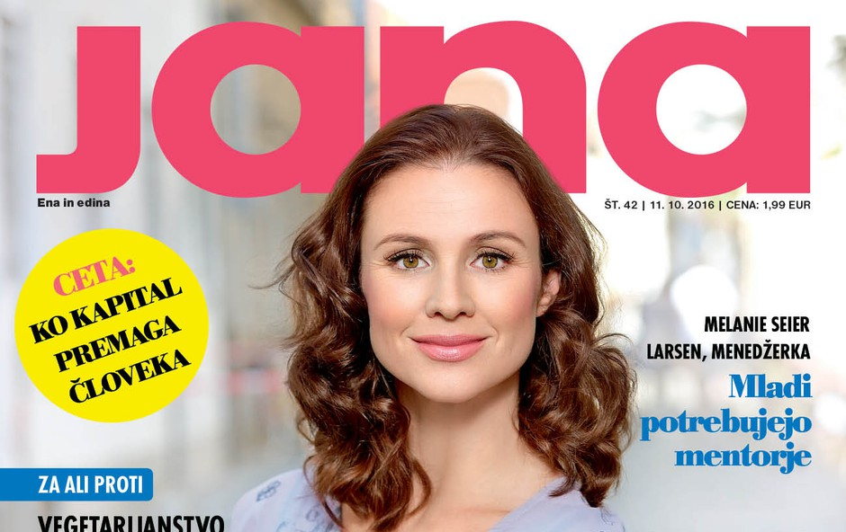 """Iva Krajnc Bagola za Jano: """"Poskušam se čim več smejati!"""" (foto: Jana)"""