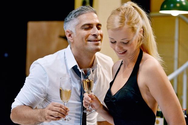 Ajda Smrekar in Sebastijan Cavazza: Zaljubljena kot najstnika (foto: N. Divja)