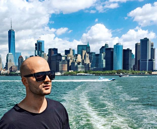 Ko je pred leti v New Yorku imel službo, je bil tak pogled nekaj vsakdanjega in je ob njem neizmerno užival.  (foto: osebni arhiv)