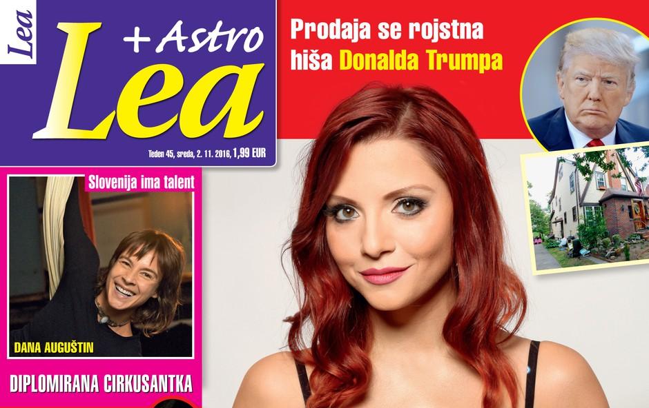 """Tanja Žagar za revijo Lea: """"Ne želim živeti v strahu!"""""""