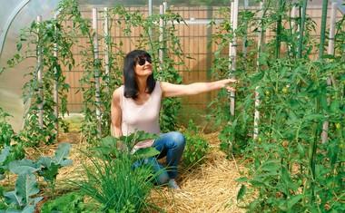 Nataša Bešter: Vso zelenjavo pridela sama