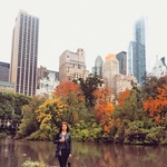 Centralni park je Majo očaral z jesenskimi barvami. (foto: osebni arhiv)
