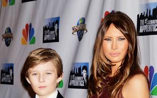 Melania Trump: S sinom bo ostala v New Yorku