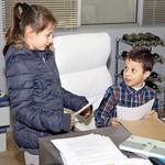 Otroci so se v studiu lahko  preizkusili tudi kot igralci.  (foto: Helena Kermelj, Goran Antley)