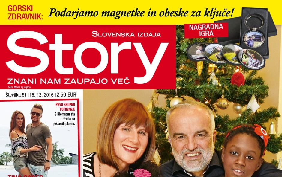 Story je pokukal pod domačo smrečico Maje Štamol Droljc!