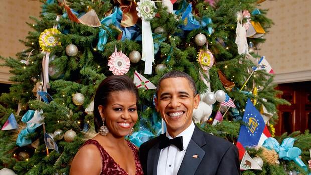 Zadnji božič družine Obama v Beli hiši (foto: Profimedia)