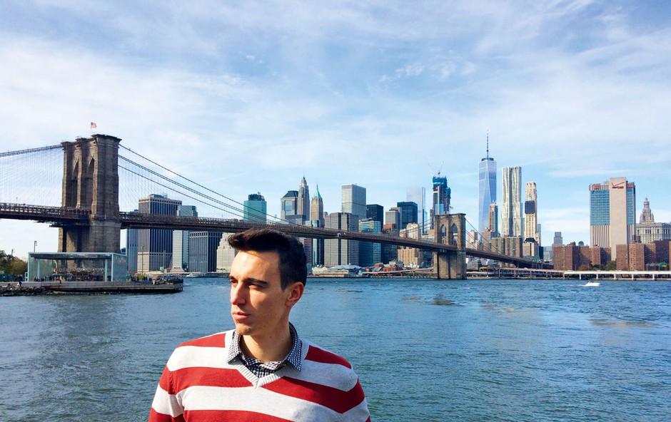 Glasbenik Nino Ošlak je proste dneve izkoristil za obisk ZDA (foto: osebni arhiv)