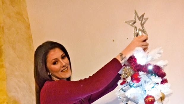 Pevka Nina Donelli še vedno verjame v Božička (foto: Helena Kermelj, osebni arhiv)