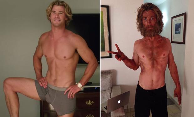 Chris Hemsworth je v času največje dietne zagretosti zaužil pičlih 500 kalorij na dan. (foto: profimedia)