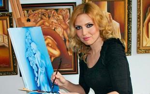 Umetnica Patricija Simonič zelo rada upodablja ženski lik