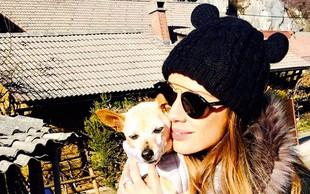 Voditeljica Tara Zupančič se je v novem letu poslovila od svoje psičke