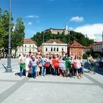 S skupino italijanskih turistov v Ljubljani.  (foto: osebni arhiv)