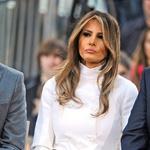 Dokaj jasno je, da je Melanijina najljubša barva pravzaprav bela. Skozi kampanjo je na vsakem drugem dogodku nosila belo. (foto: Profimedia)