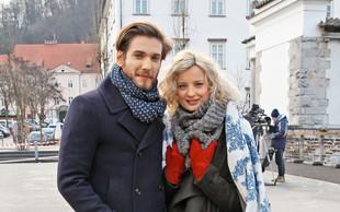 Ajda Smrekar in Robert Korošec sta zaklenila svojo ljubezen