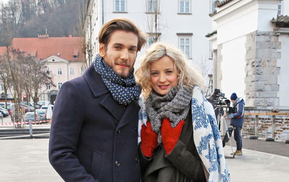 Ajda Smrekar in Robert Korošec sta zaklenila svojo ljubezen (foto: Planet TV)
