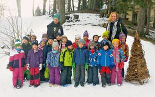 Otroci so ustvarjali eko smreke ter tako poskrbeli za ohranjanje narave