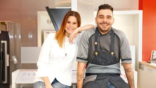 Teja Perjet in Jani Jugovic želita tradicionalno slovensko hrano dvigniti na nov nivo (foto: Helena Kermelj)