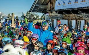 Predsednik Borut Pahor je otroke učil varnega smučanja